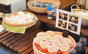 Photo:Boiled eggs and natto