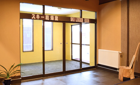 Photo:Entrance of ski drying room