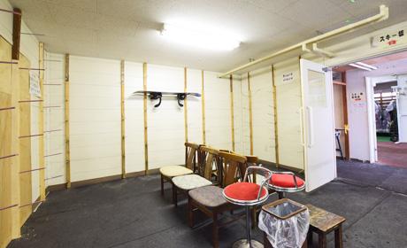 写真:スキー乾燥室